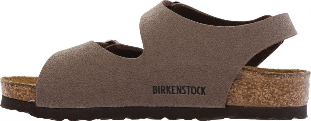 Boys' Birkenstock Roma Birkibuc Ankle Strap Sandal, Mocha Birko-Flor, large, image 3