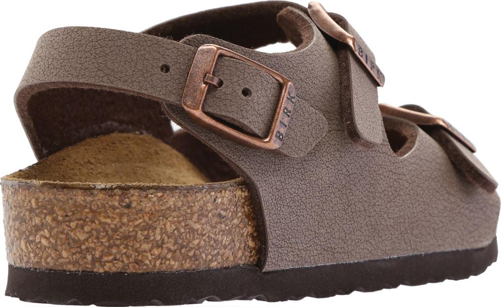 Boys' Birkenstock Roma Birkibuc Ankle Strap Sandal, Mocha Birko-Flor, large, image 4