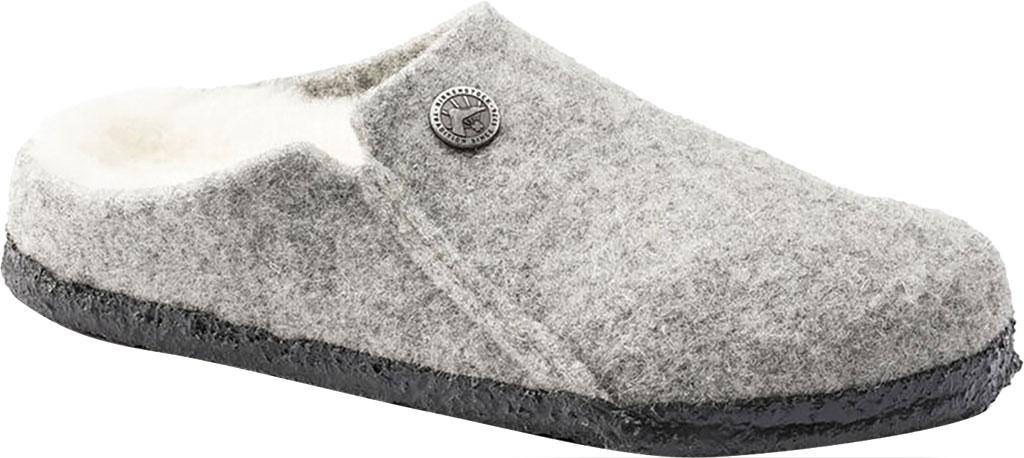 Children's Birkenstock Zermatt Shearling Clog Slipper, Light Gray/Natural Wool, large, image 1