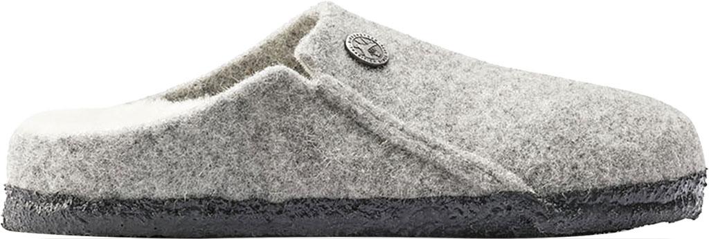 Children's Birkenstock Zermatt Shearling Clog Slipper, Light Gray/Natural Wool, large, image 2