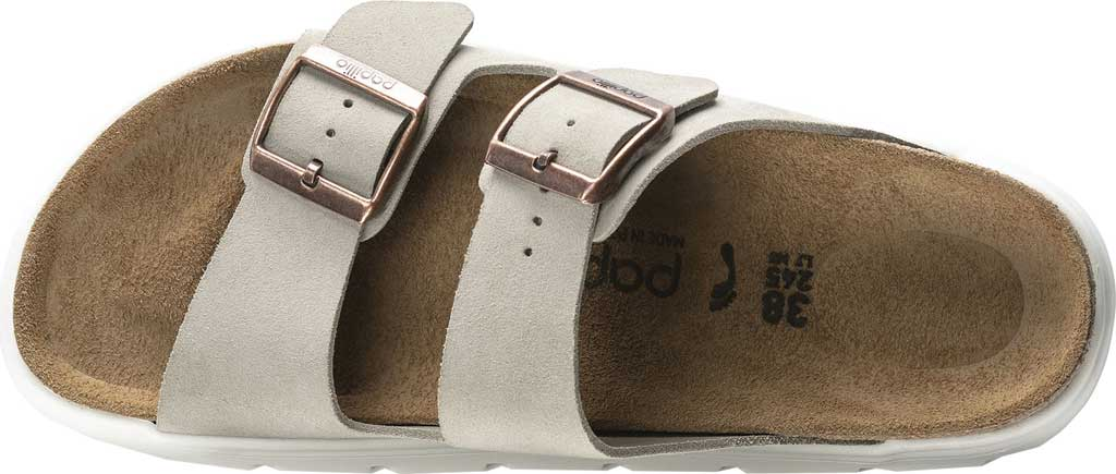 Women's Birkenstock Arizona Chunky Two Strap Slide, Taupe Suede, large, image 3
