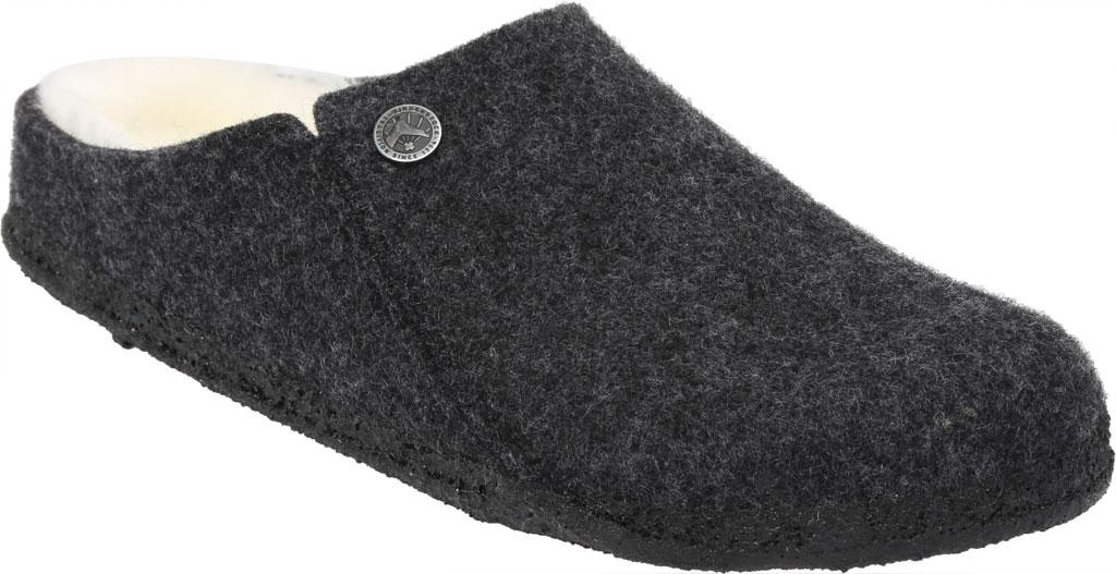 Women's Birkenstock Zermatt Shearling Clog Slipper, Anthracite/Natural Wool, large, image 1
