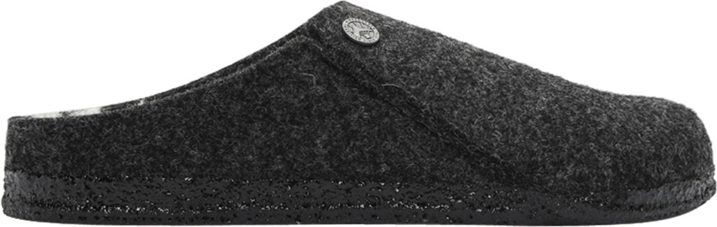 Women's Birkenstock Zermatt Shearling Clog Slipper, Anthracite/Natural Wool, large, image 2