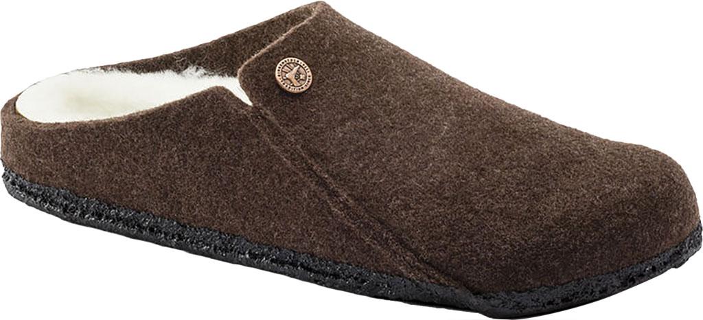 Women's Birkenstock Zermatt Shearling Clog Slipper, Mocha/Natural Wool, large, image 1