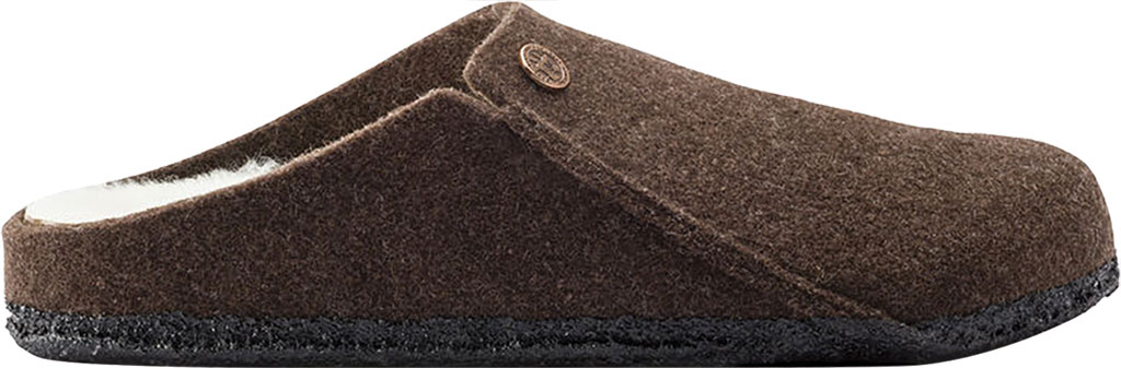 Women's Birkenstock Zermatt Shearling Clog Slipper, Mocha/Natural Wool, large, image 2