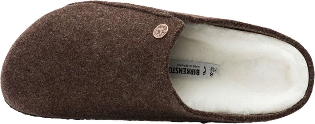 Women's Birkenstock Zermatt Shearling Clog Slipper, Mocha/Natural Wool, large, image 3