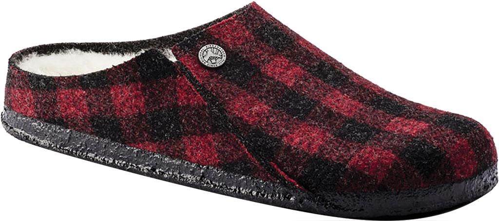 Women's Birkenstock Zermatt Shearling Clog Slipper, Plaid Red/Natural Wool, large, image 1