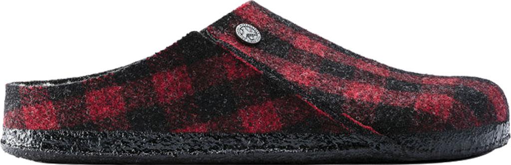 Women's Birkenstock Zermatt Shearling Clog Slipper, Plaid Red/Natural Wool, large, image 2