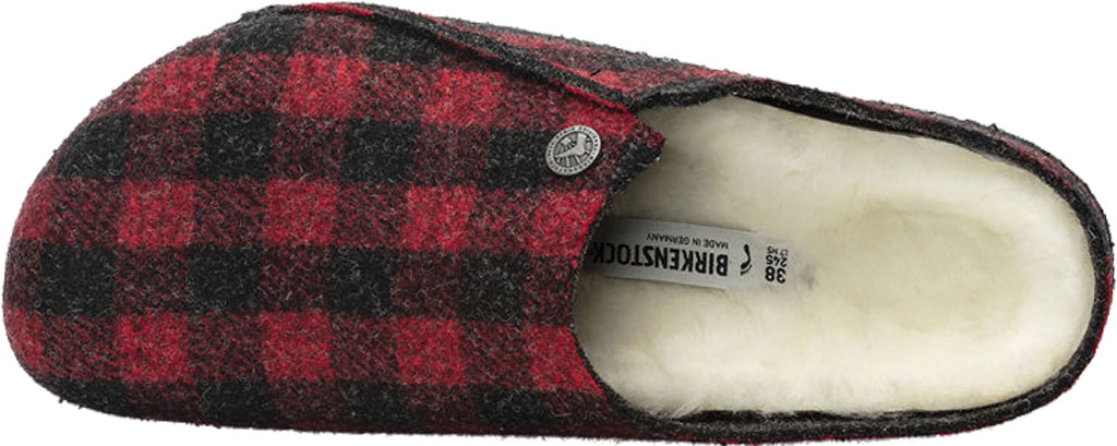 Women's Birkenstock Zermatt Shearling Clog Slipper, Plaid Red/Natural Wool, large, image 3