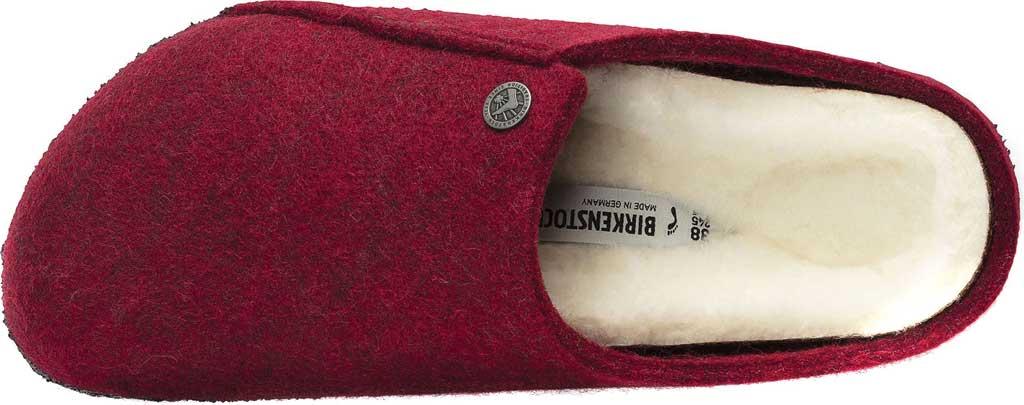 Women's Birkenstock Zermatt Shearling Clog Slipper, Vermouth/Natural Wool, large, image 3
