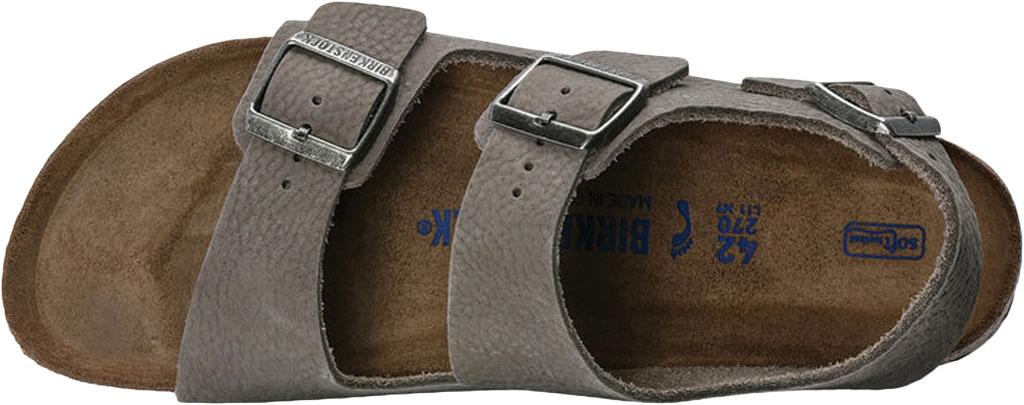 Men's Birkenstock Milano Soft Footbed Sandal, Soft Whale Gray Nubuck, large, image 3