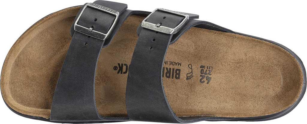 Men's Birkenstock Arizona CT Slide, Black Oiled Nubuck Leather, large, image 3