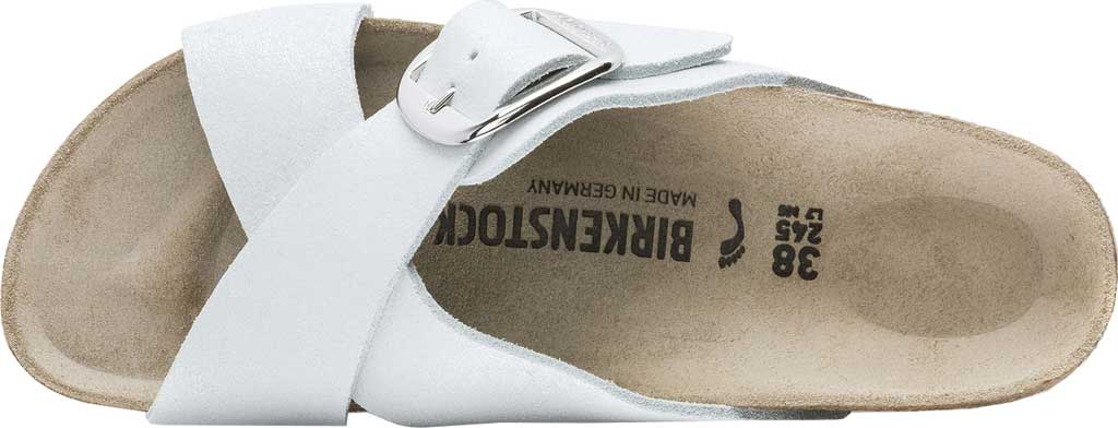 Women's Birkenstock Siena Big Buckle Slide, Washed Metallic White Leather, large, image 3