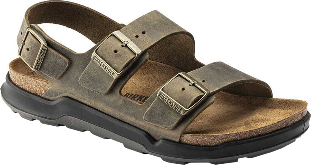 Men's Birkenstock Milano CT Active Sandal, Faded Khaki Oiled Leather, large, image 1