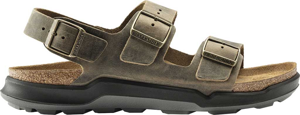 Men's Birkenstock Milano CT Active Sandal, Faded Khaki Oiled Leather, large, image 2