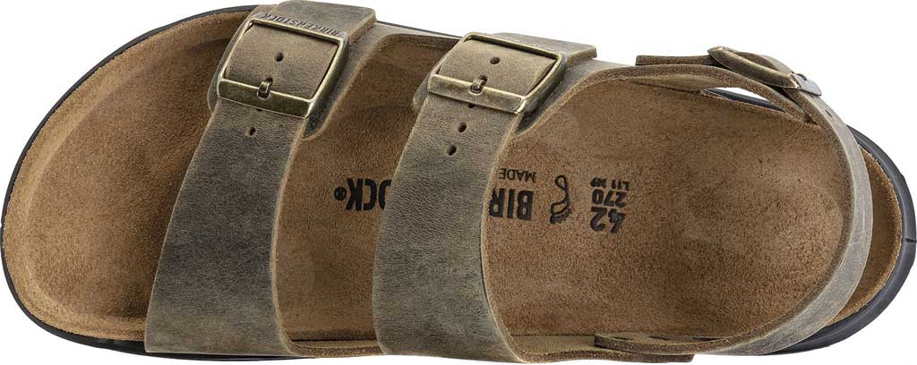 Men's Birkenstock Milano CT Active Sandal, Faded Khaki Oiled Leather, large, image 3