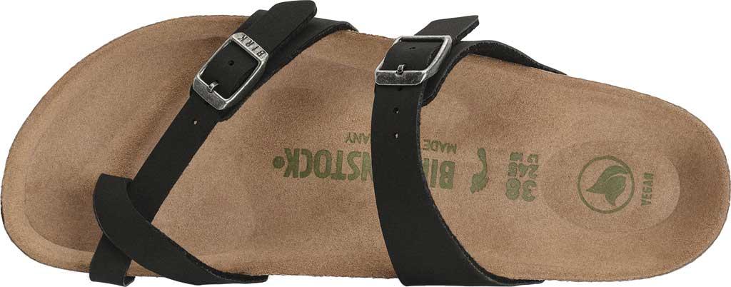 Women's Birkenstock Mayari Vegan Toe Loop Sandal, Black Birkibuc, large, image 3