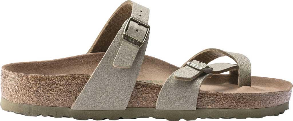 Women's Birkenstock Mayari Vegan Toe Loop Sandal, Faded Khaki Birkibuc, large, image 2