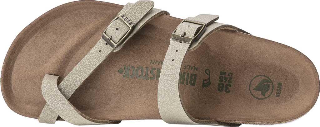 Women's Birkenstock Mayari Vegan Toe Loop Sandal, Faded Khaki Birkibuc, large, image 3
