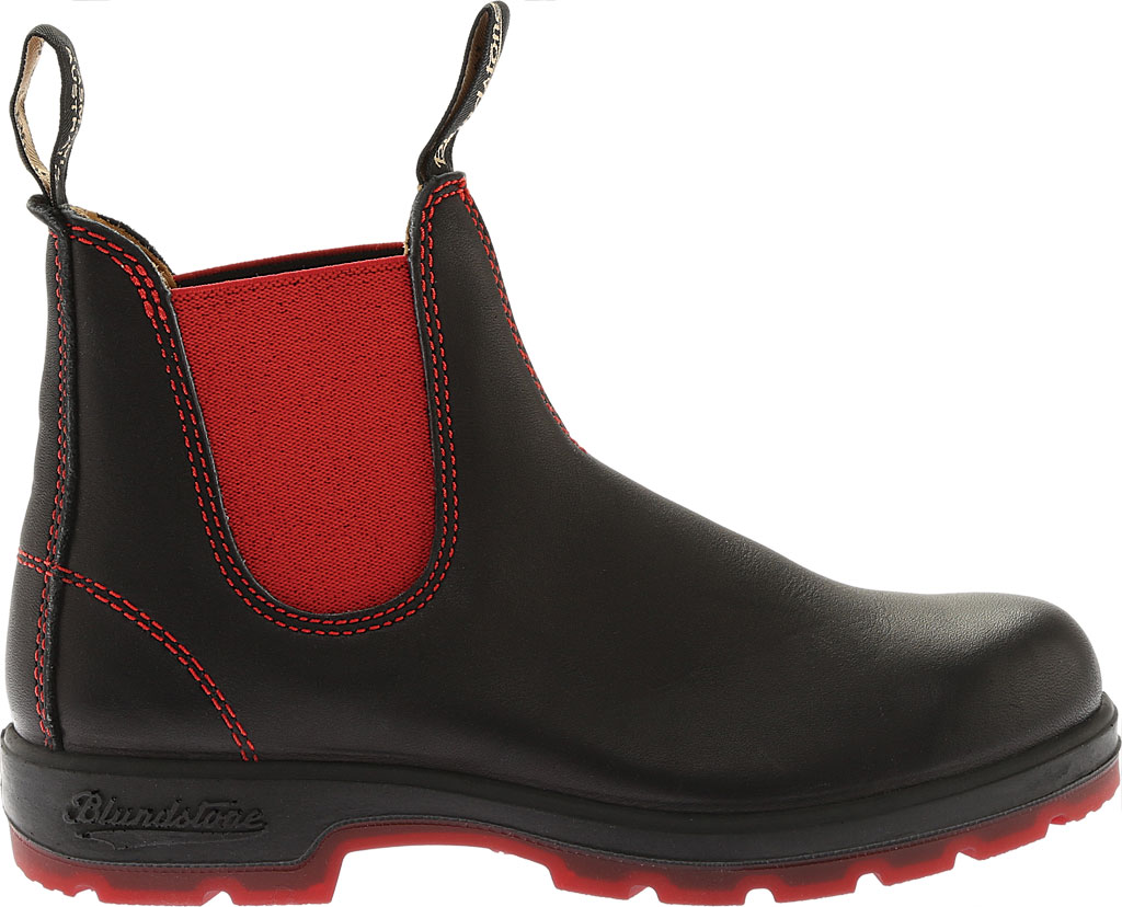 Blundstone Super 550 Series Boot, Black/Red Gore/Red Sole, large, image 2