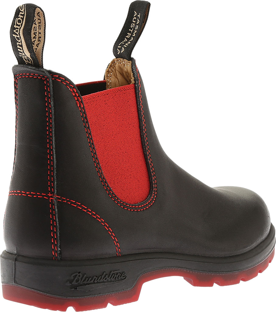 Blundstone Super 550 Series Boot, Black/Red Gore/Red Sole, large, image 3