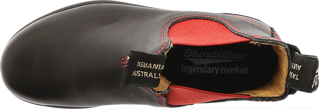 Blundstone Super 550 Series Boot, Black/Red Gore/Red Sole, large, image 5