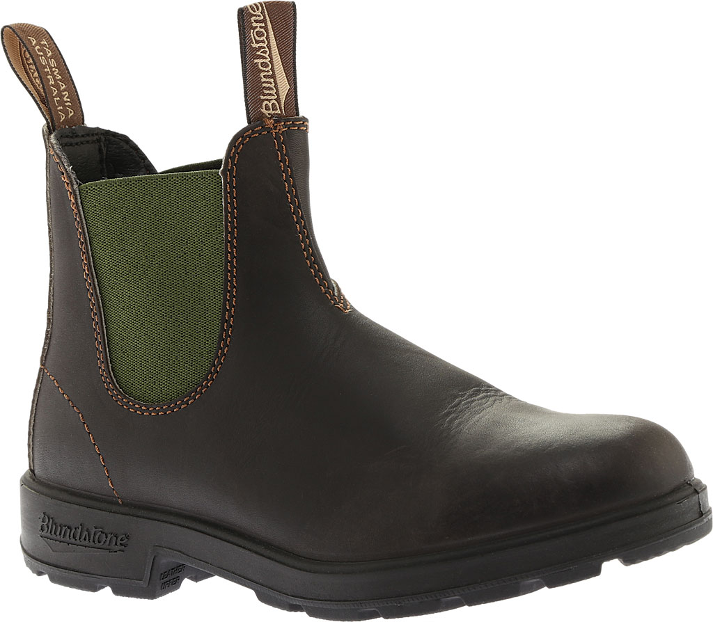 Blundstone Original 500 Series Boot, Stout Brown/Olive Gore, large, image 1