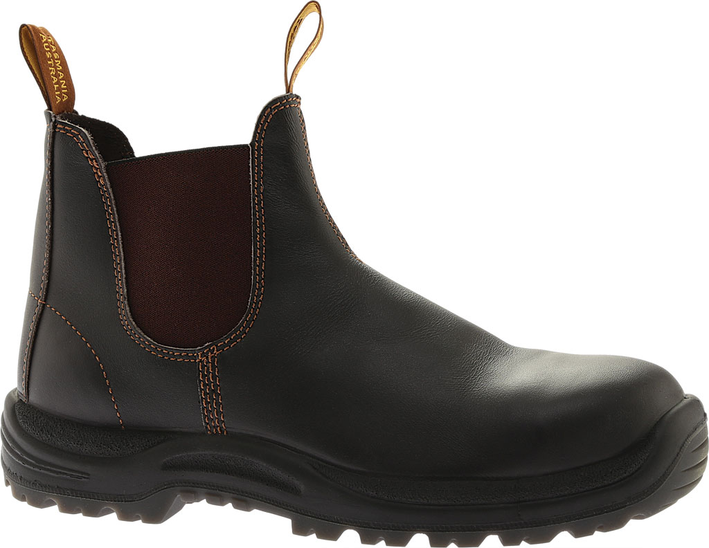 Blundstone Steel Toe Cap Work Boot 172, Brown Leather, large, image 1
