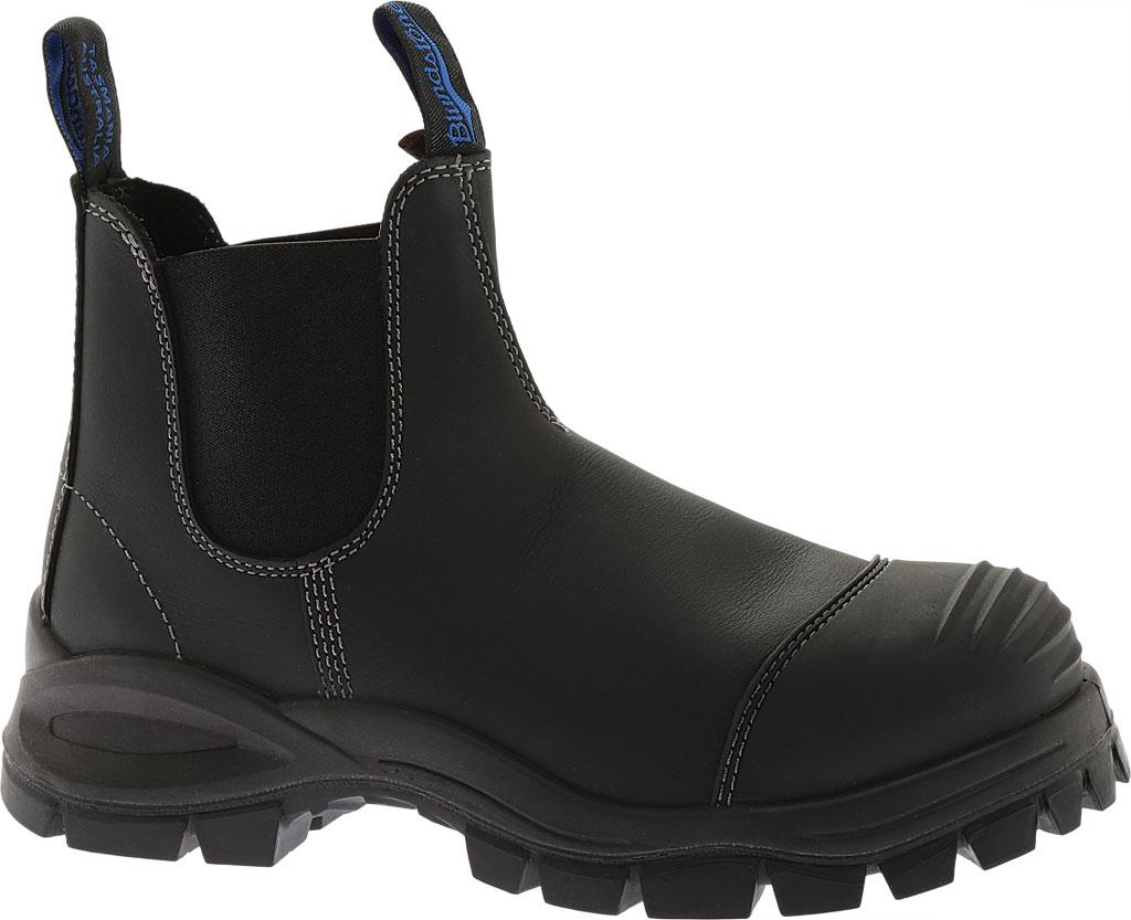 Men's Blundstone Xfoot Rubber Range Slip On Boot, Black Leather, large, image 1