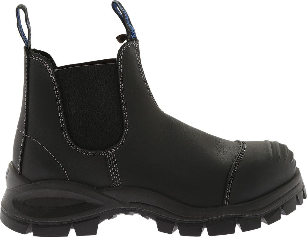 Men's Blundstone Xfoot Rubber Range Slip On Boot, Black Leather, large, image 2