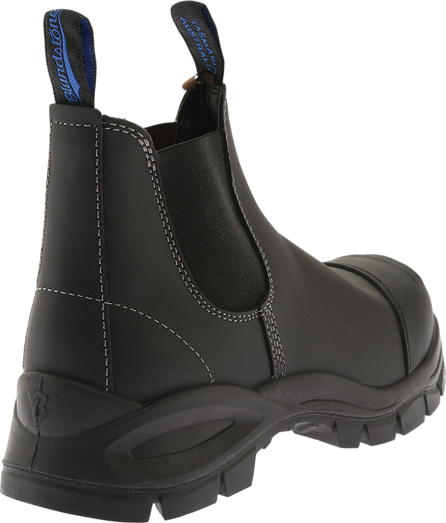 Men's Blundstone Xfoot Rubber Range Slip On Boot, Black Leather, large, image 3