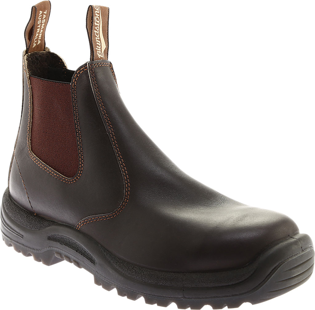 Men's Blundstone #490 Soft Toe Chelsea Boot, Stout Brown Leather, large, image 1