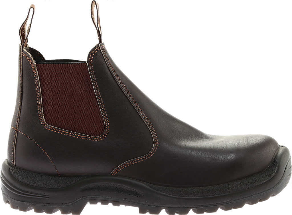Men's Blundstone #490 Soft Toe Chelsea Boot, Stout Brown Leather, large, image 2