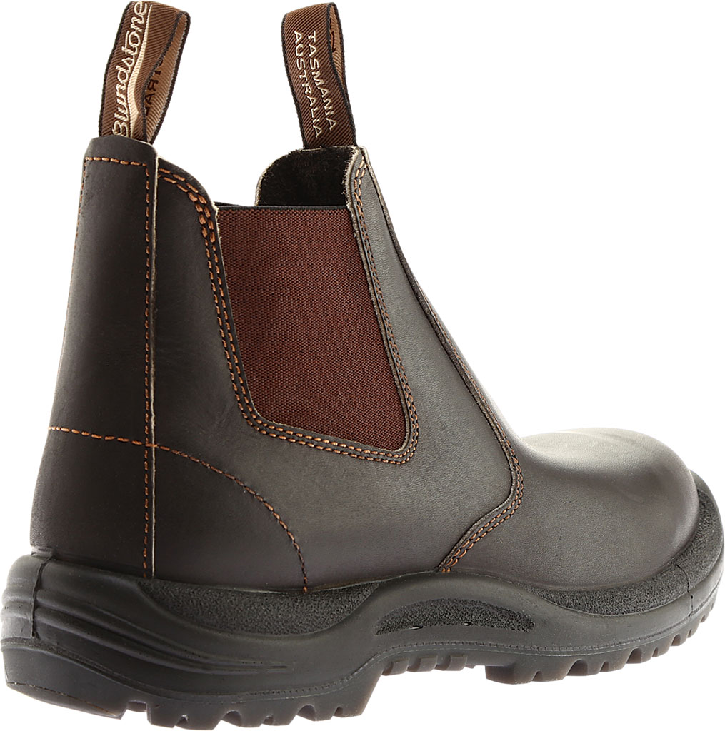 Men's Blundstone #490 Soft Toe Chelsea Boot, Stout Brown Leather, large, image 4
