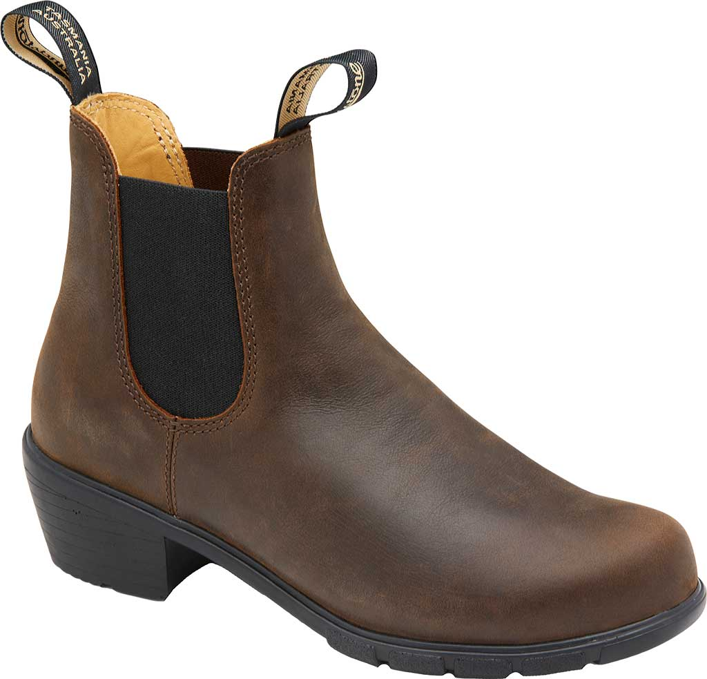 Women's Blundstone Heel Series Boot, Antique Brown Leather, large, image 1
