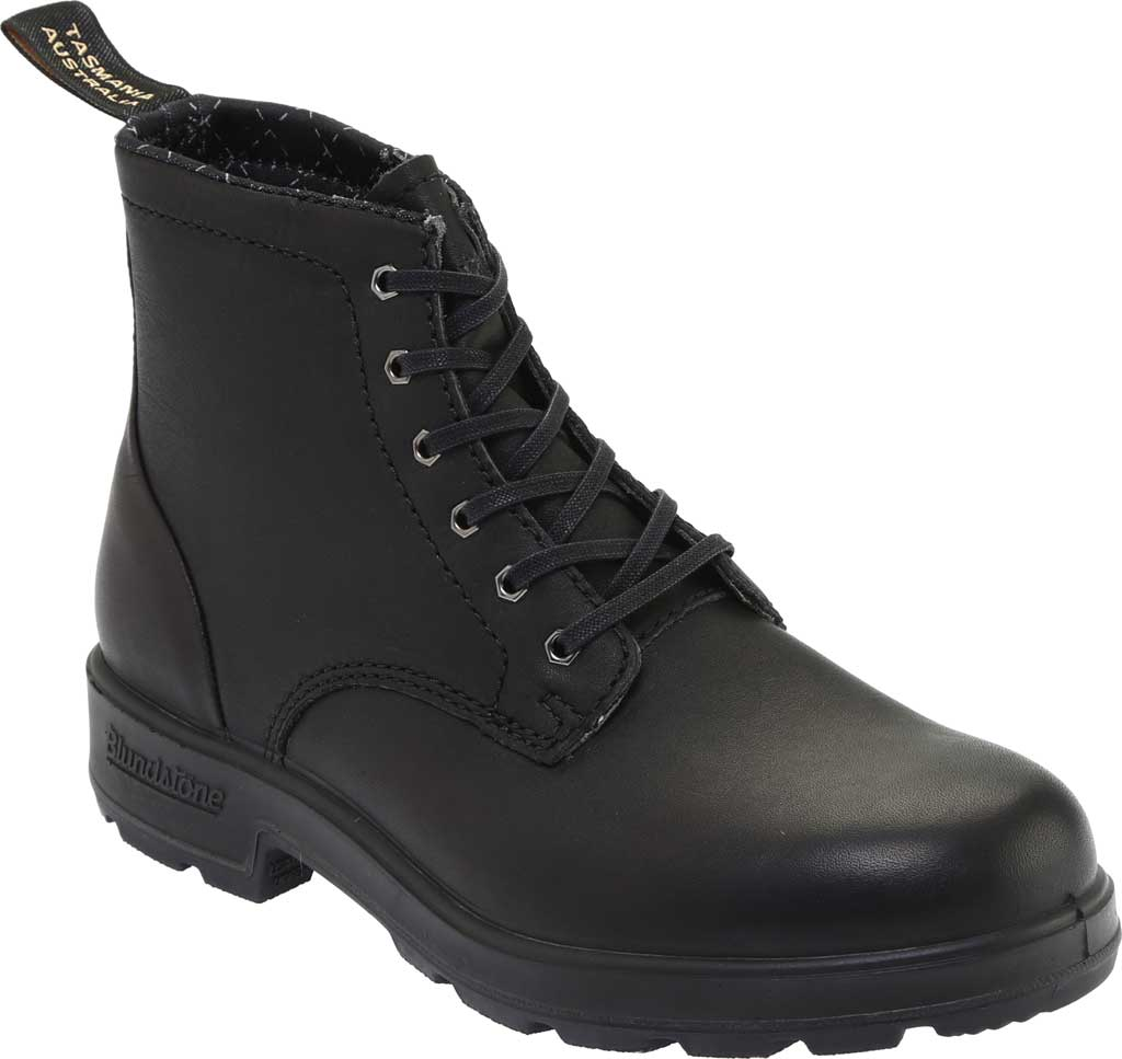 Blundstone Lace Up Original Series Motorcycle Boot, Black Leather, large, image 1