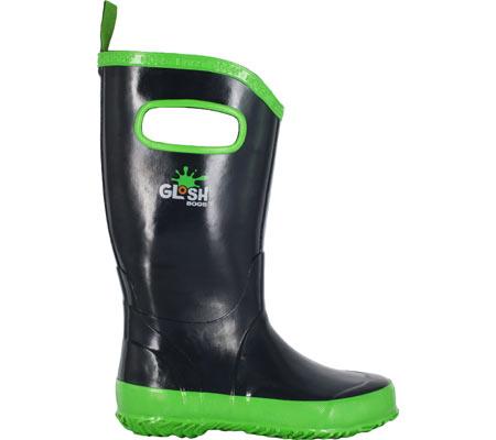 Children's Bogs Rain Boot, Navy/Green, large, image 1