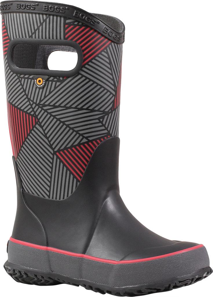 Children's Bogs Rain Boot, Black Multi Geo Rubber, large, image 1