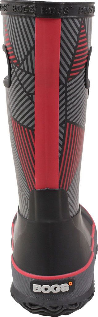 Children's Bogs Rain Boot, Black Multi Geo Rubber, large, image 4