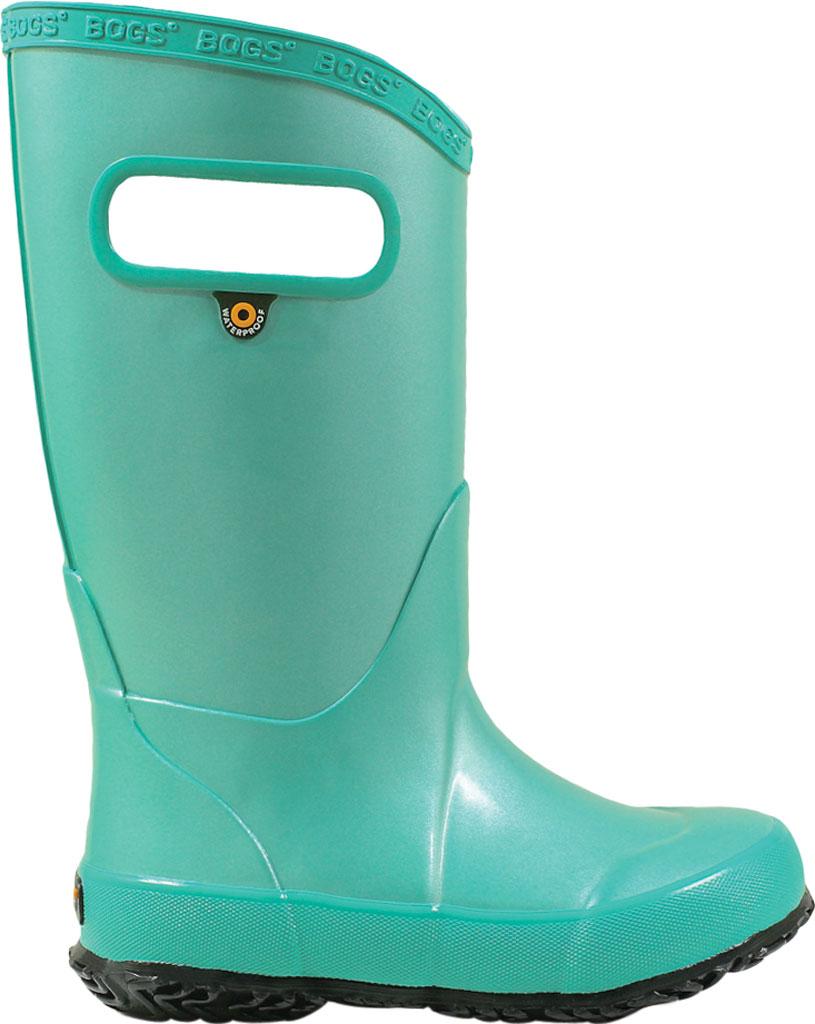 Children's Bogs Rain Boot, Navy/Green, large, image 2