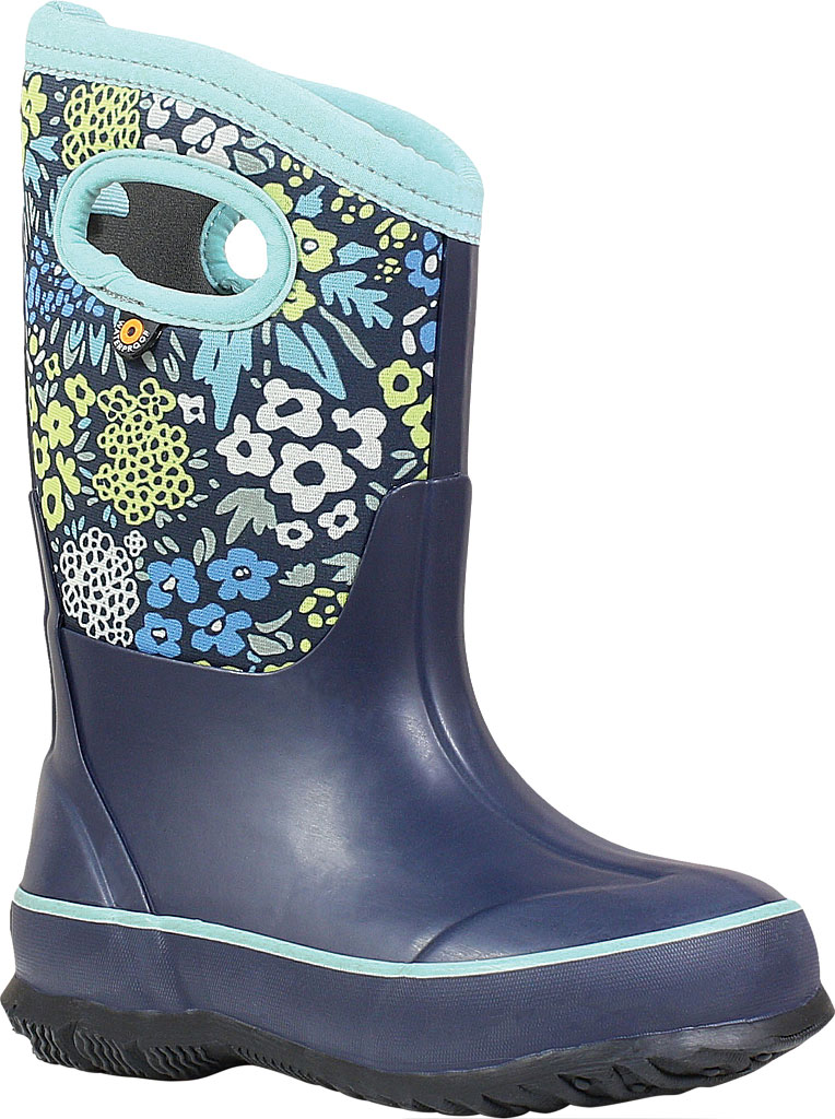 Children's Bogs Classic, Blue Multi Big NW Garden Rubber/Nylon Jersey, large, image 1