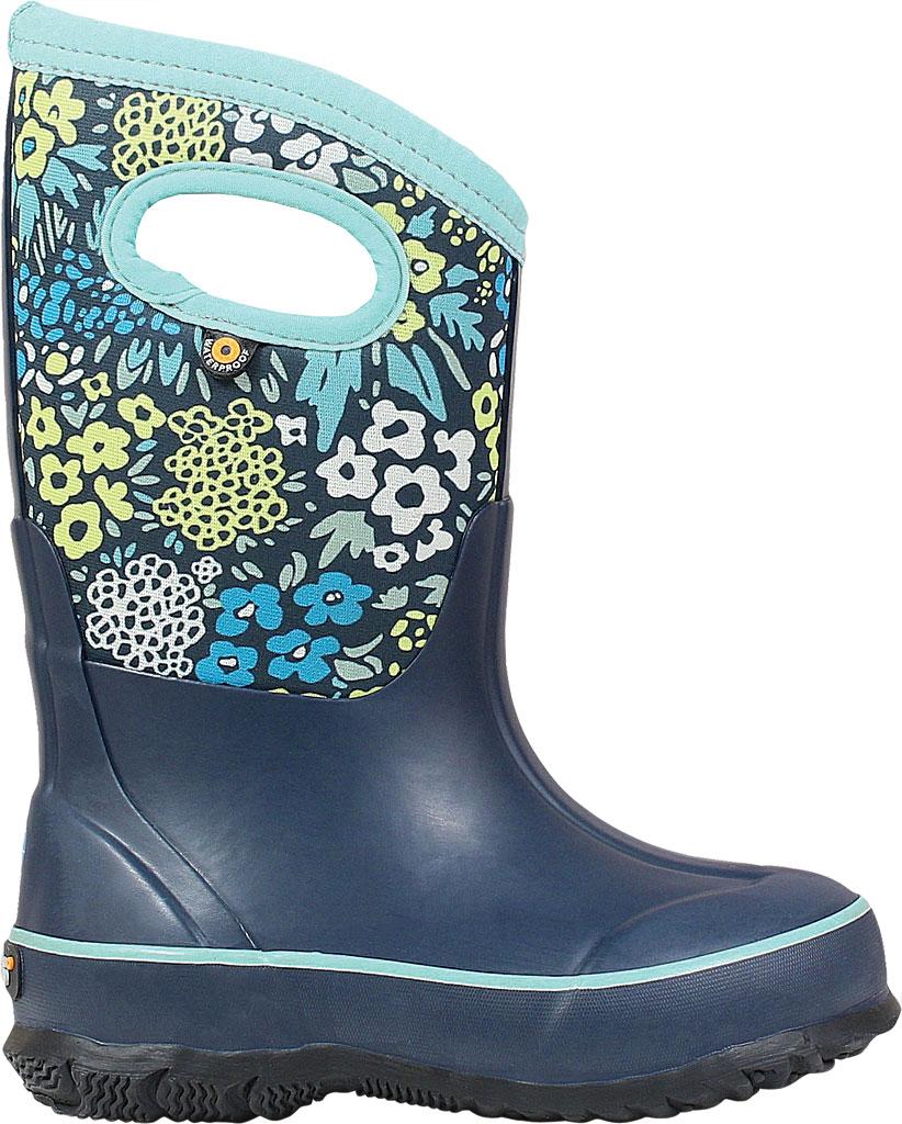 Children's Bogs Classic, Blue Multi Big NW Garden Rubber/Nylon Jersey, large, image 2