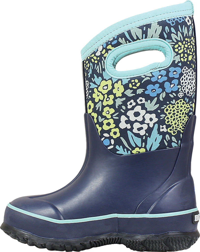 Children's Bogs Classic, Blue Multi Big NW Garden Rubber/Nylon Jersey, large, image 3
