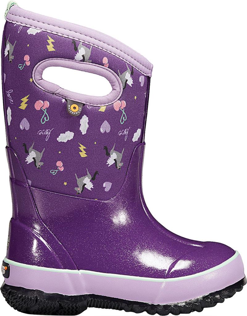 Children's Bogs Classic, Purple Pegasus Multi Rubber/Nylon, large, image 2