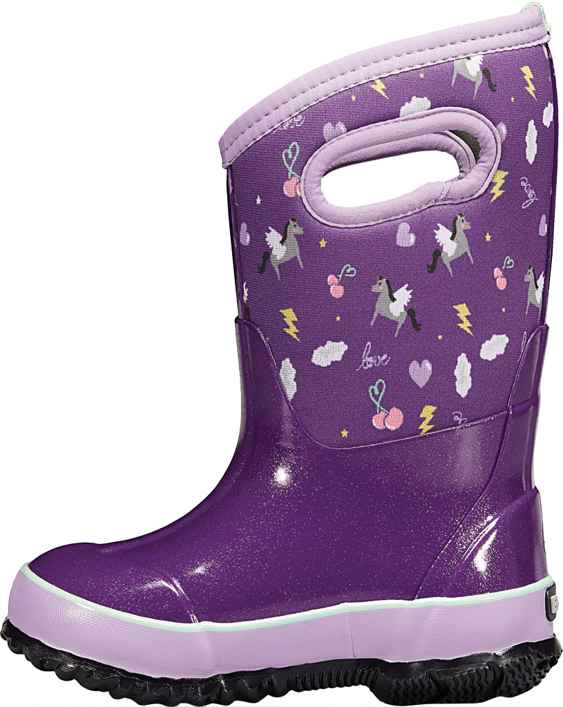 Children's Bogs Classic, Purple Pegasus Multi Rubber/Nylon, large, image 3