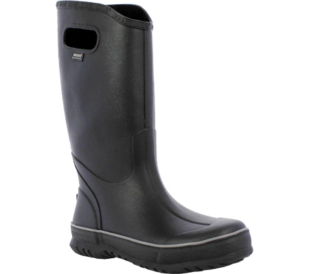 Men's Bogs Rain Boot, Black, large, image 1