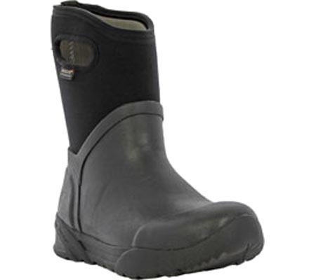 Men's Bogs Bozeman Mid Boot, Black Rubber, large, image 1