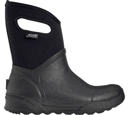 Men's Bogs Bozeman Mid Boot, Black Rubber, large, image 2