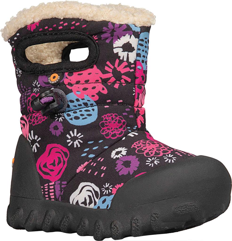Infant Bogs B Moc Infant Boot, Black Multi Garden Party Polyester, large, image 1