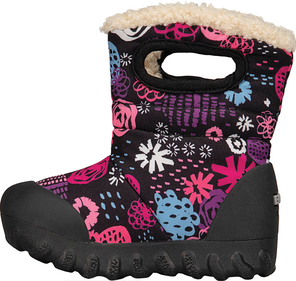 Infant Bogs B Moc Infant Boot, Black Multi Garden Party Polyester, large, image 3